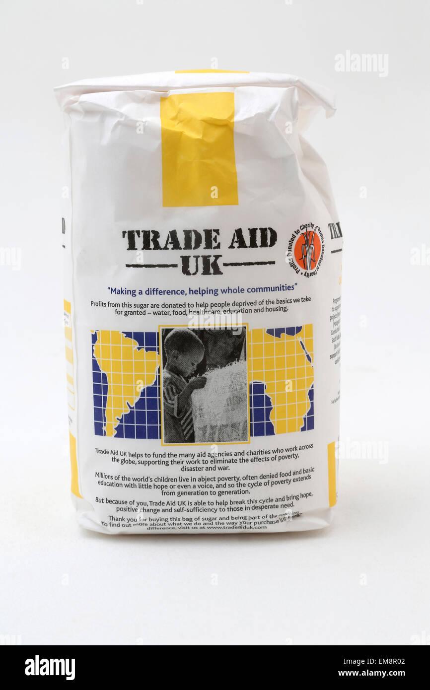 Il commercio del Regno Unito Aiuto puro di canna di zucchero semolato Immagini Stock