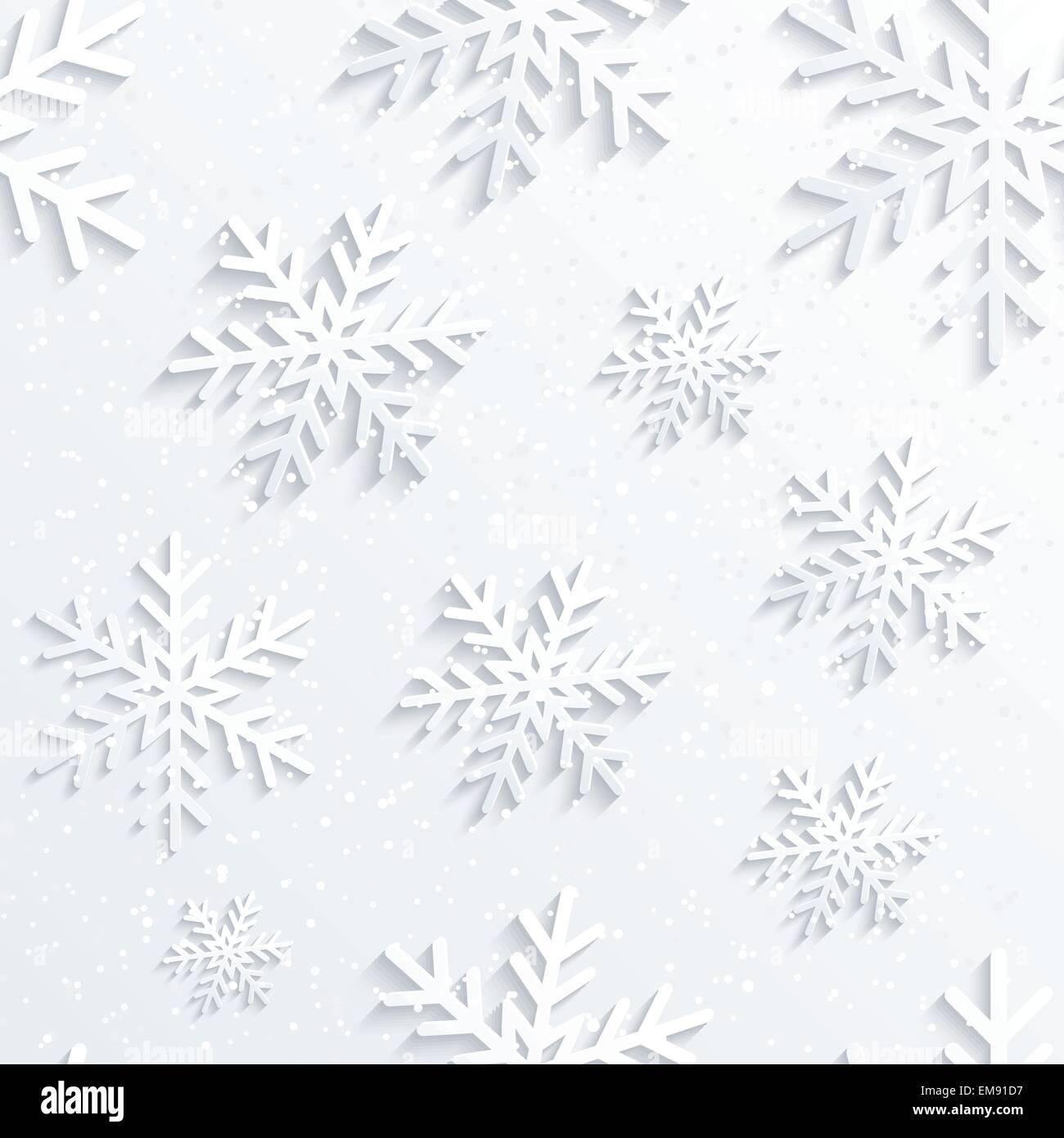 Natale sfondo fiocco di neve Immagini Stock