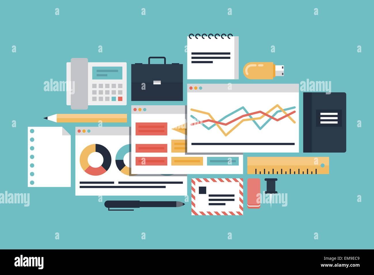 Produttività aziendale concetto di illustrazione Illustrazione Vettoriale