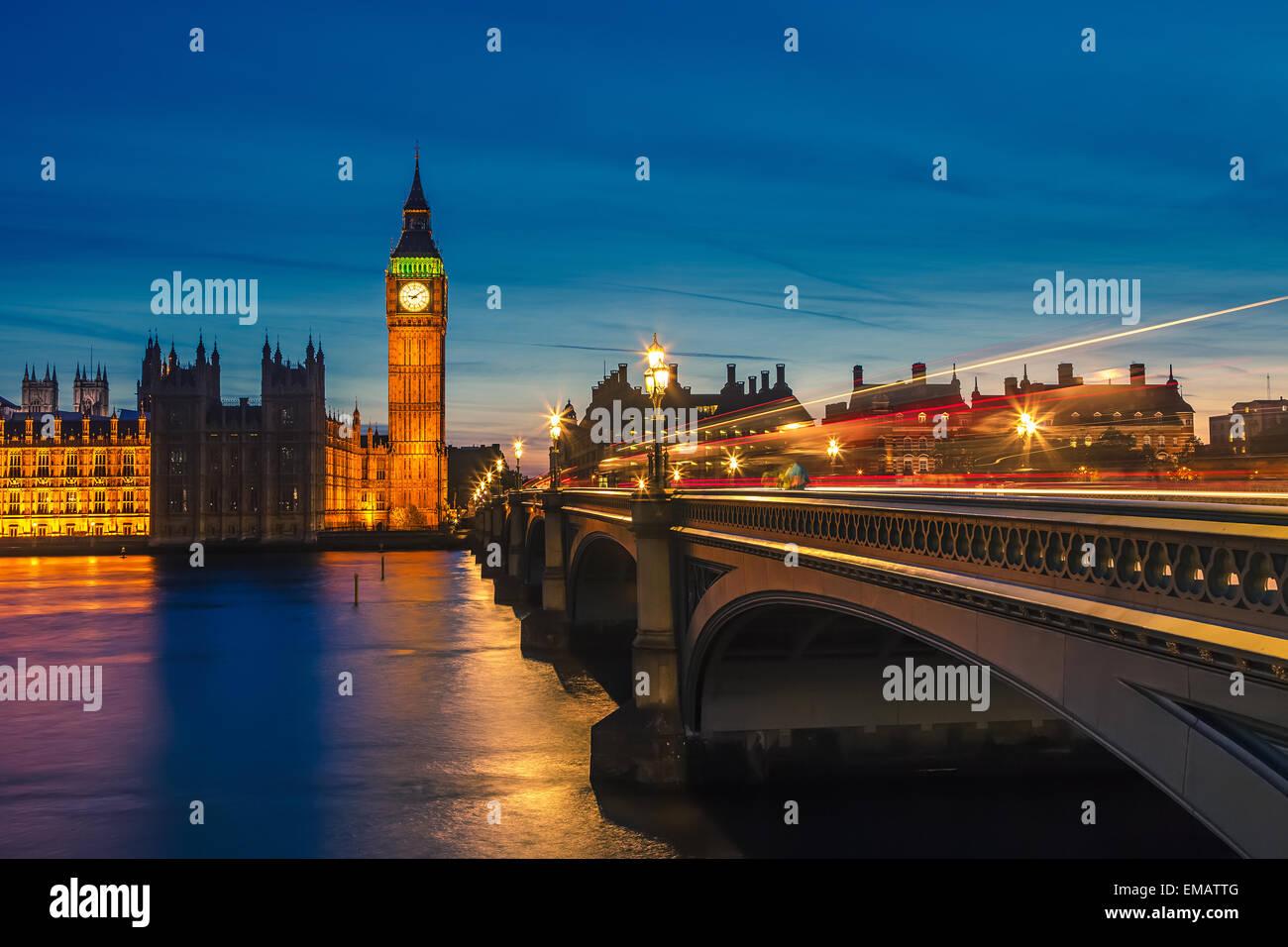 Il Big Ben e le case del parlamento, Londra Immagini Stock