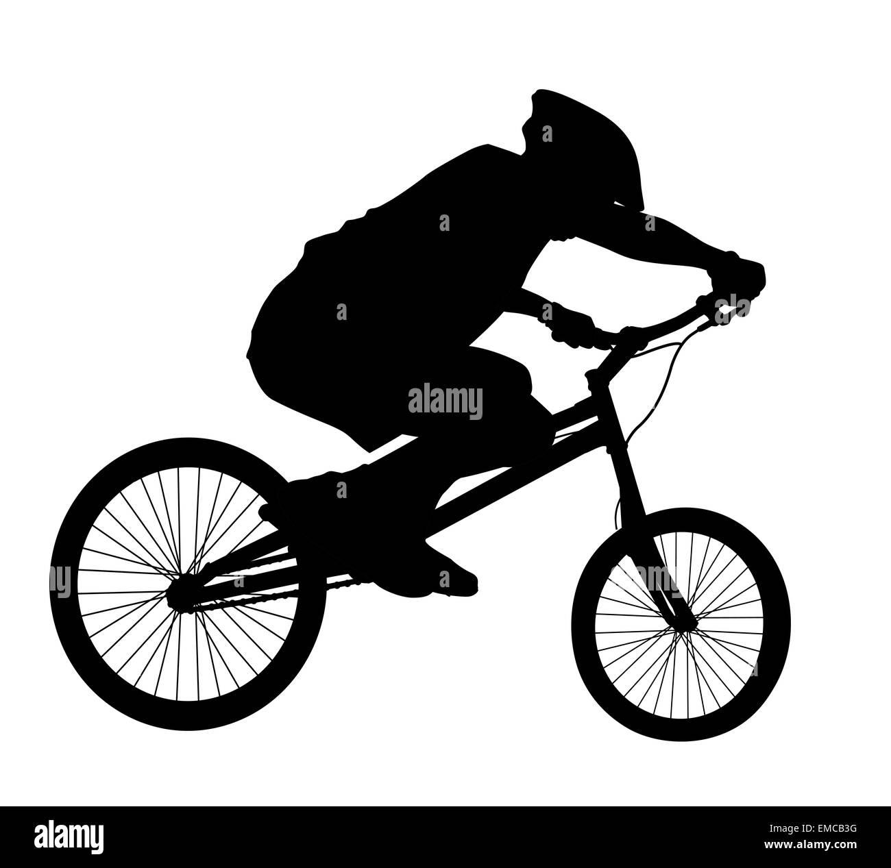 Biker silhouette vettoriali Immagini Stock