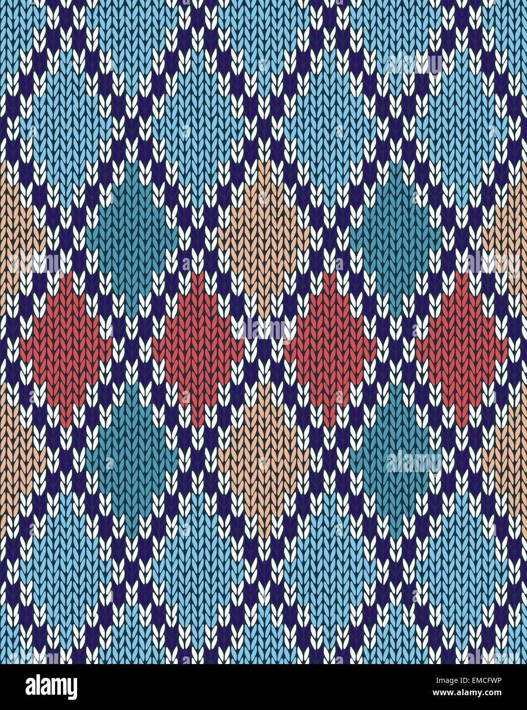 Maglia Jacquard Seamless Texture ornamento Immagini Stock