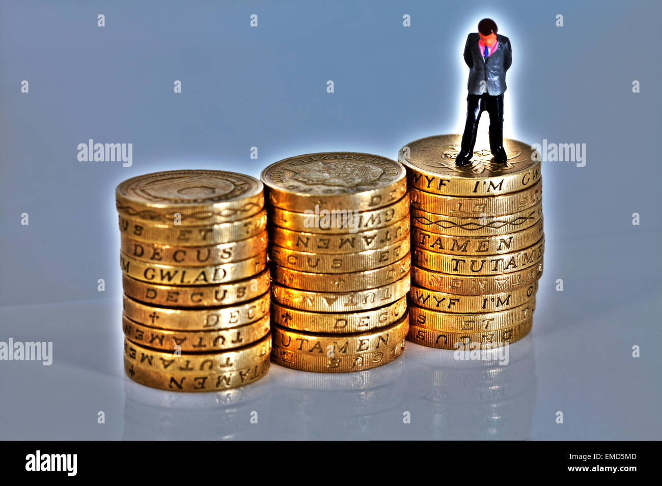 Le preoccupazioni di denaro dei problemi del debito di disoccupati in bancarotta di fallimento i prestiti di prestito Immagini Stock