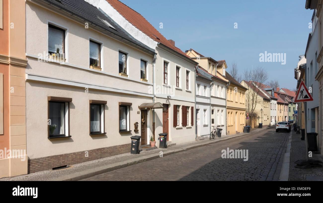 Brandeburgo strada residenziale -1 Immagini Stock