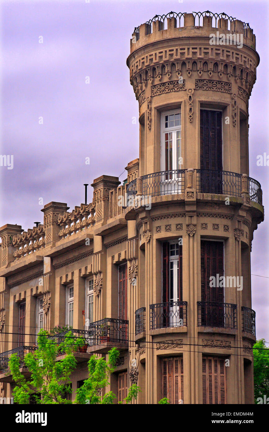 La torre fantasma (La Torre fantasma) di La Boca. Buenos Aires, Argentina Immagini Stock