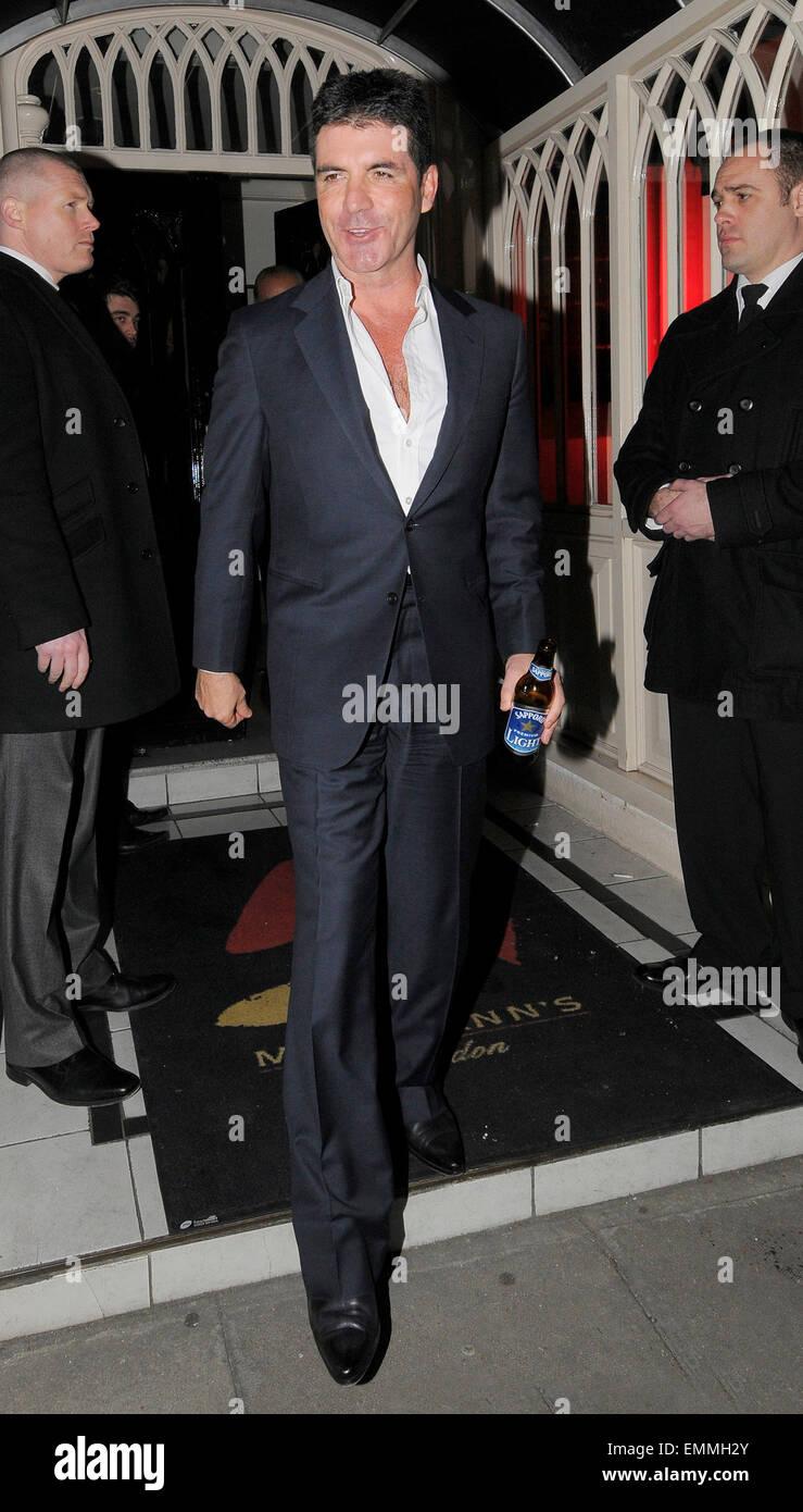 15.marzo.2011. Londra Simon Cowell lasciando PHILLIP GREEN 59TH