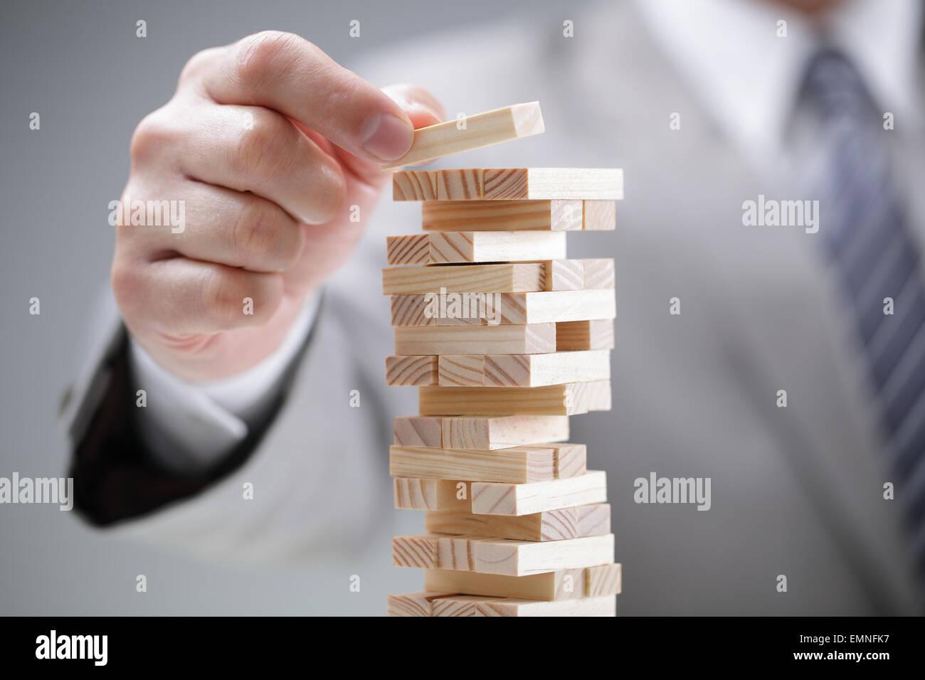 La pianificazione del rischio e della strategia nel business Immagini Stock