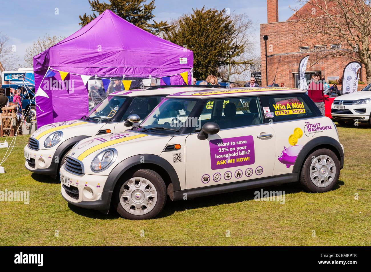 Vincere un Mini a Framlingham Paese mostrano in Framlingham , Suffolk , Inghilterra , Inghilterra , Regno Unito Immagini Stock