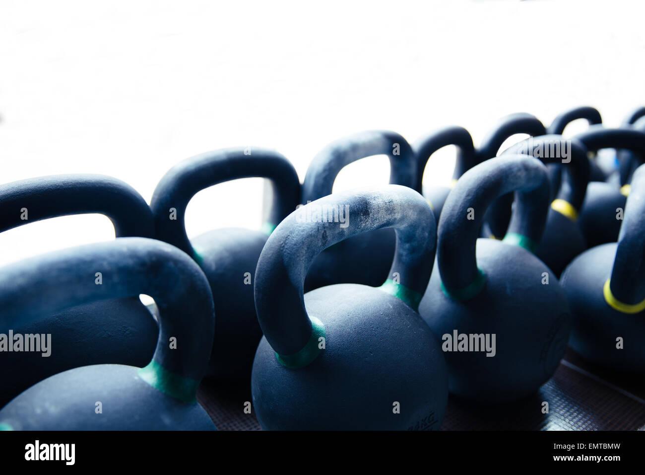 Primo piano immagine di un bollitore sfere Immagini Stock