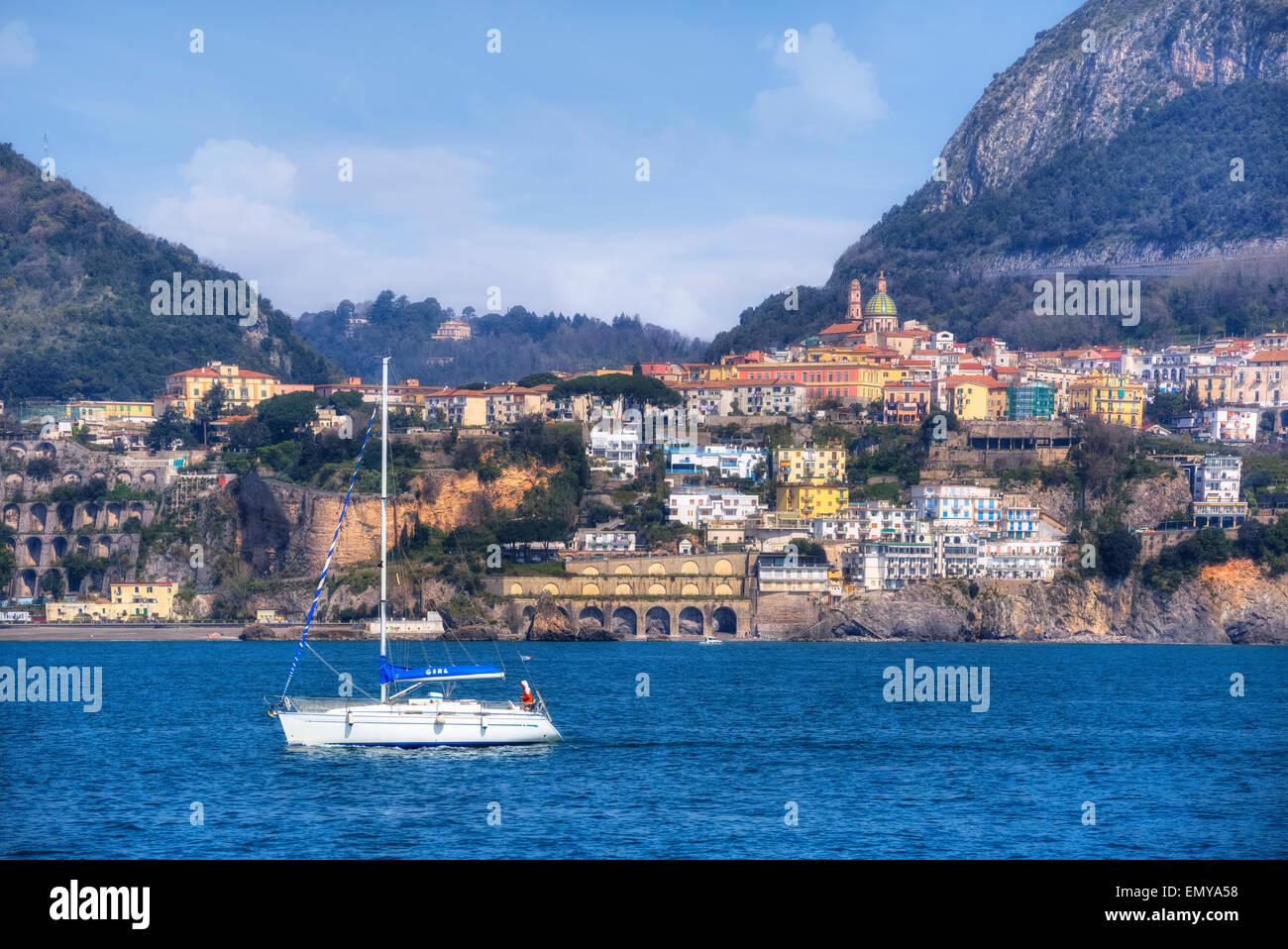 Vietri Sul Mare, Costiera Amalfitana, Campania, Italia Immagini Stock