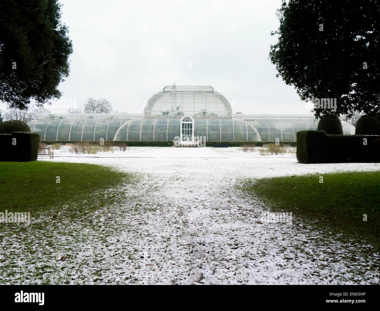 Europa, Regno Unito, Inghilterra, Londra, Kew Gardens inverno la casa delle palme Immagini Stock