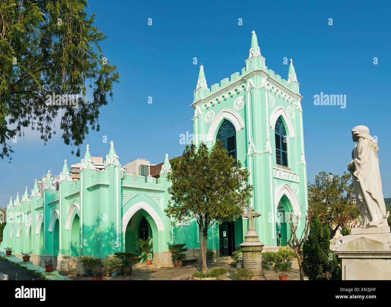 St Michael portoghese cimitero cristiano chiesa in Macau Macao Cina Immagini Stock