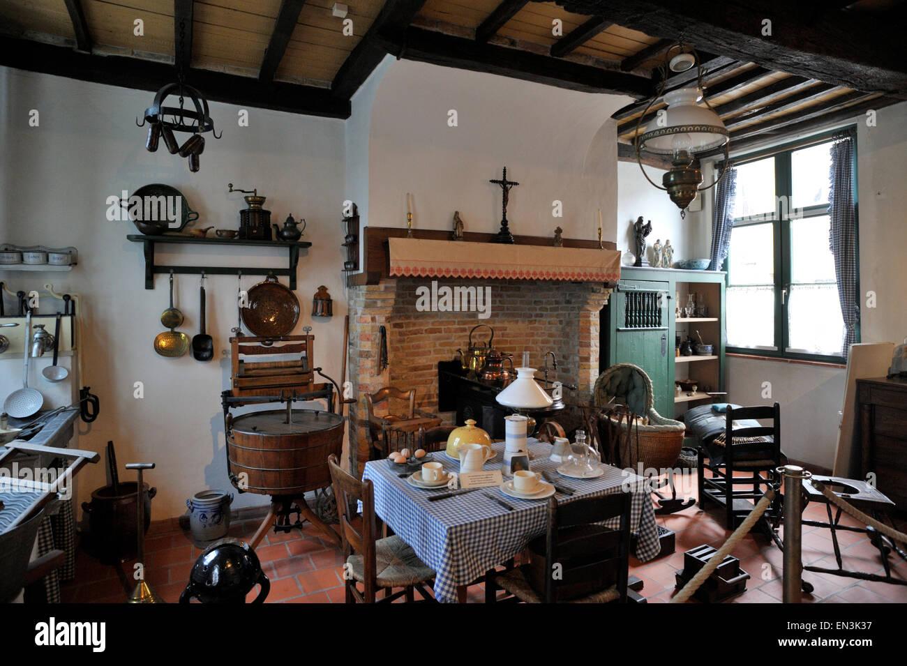 Belgio, bruges, museo del folclore volkskunde Immagini Stock