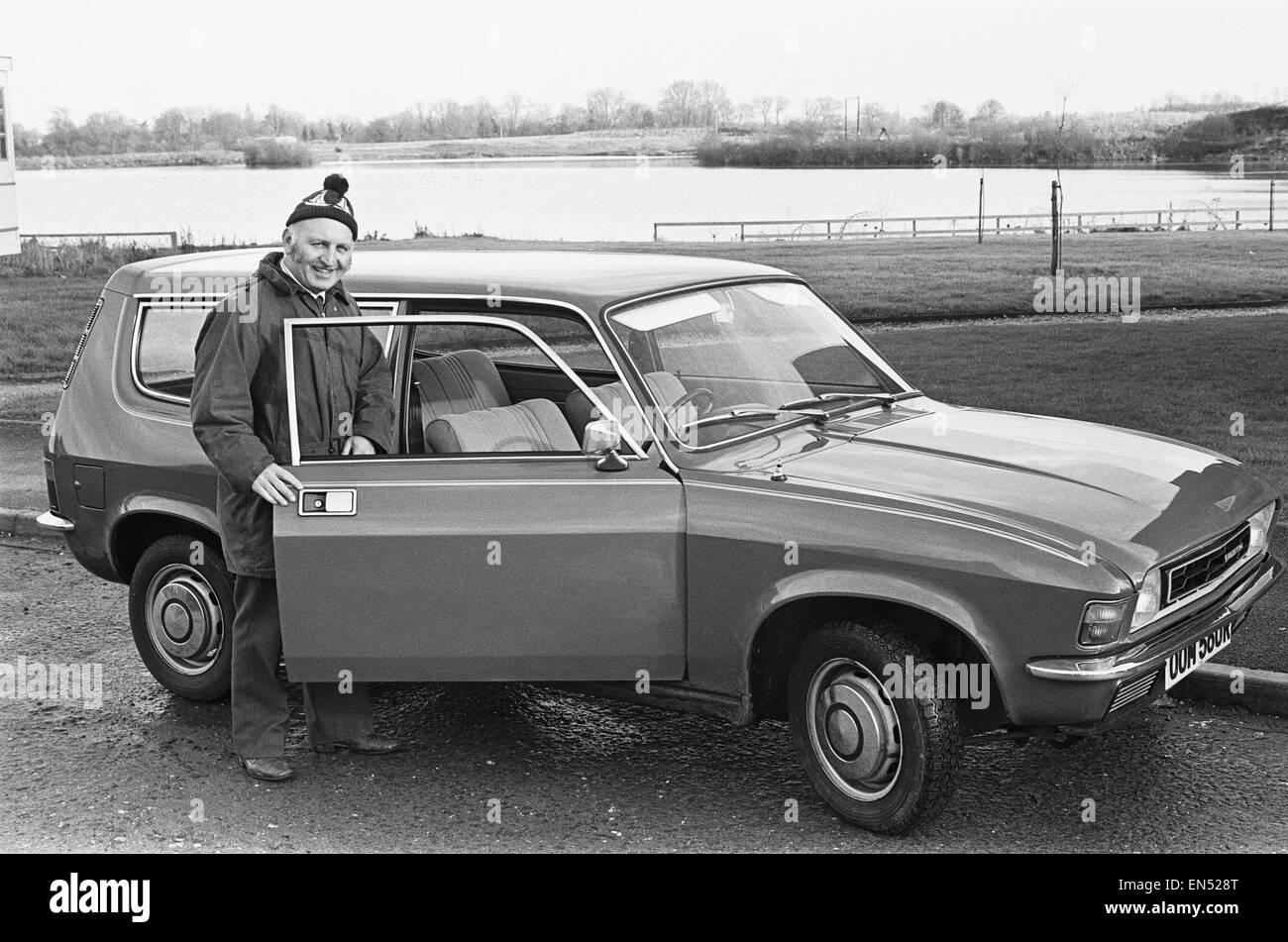 British Leyland Allegro il primo premio della sveglia Win-A-auto della concorrenza. Circa 1973 Immagini Stock