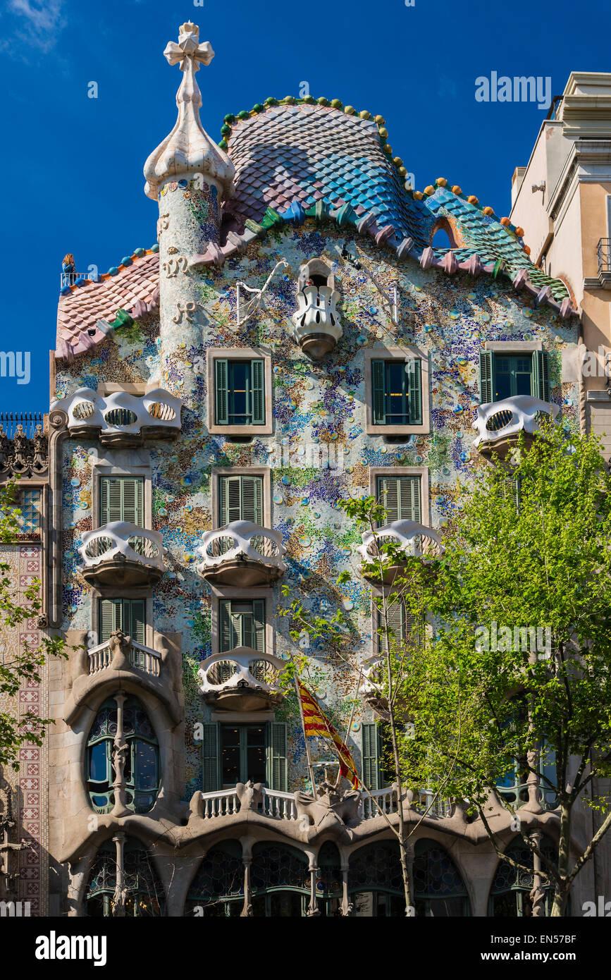 Casa Batllo, Barcellona, in Catalogna, Spagna Immagini Stock