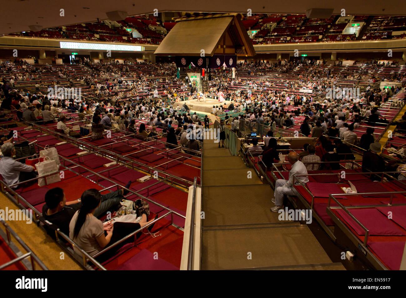 Sumo wrestling a Tokyo Immagini Stock