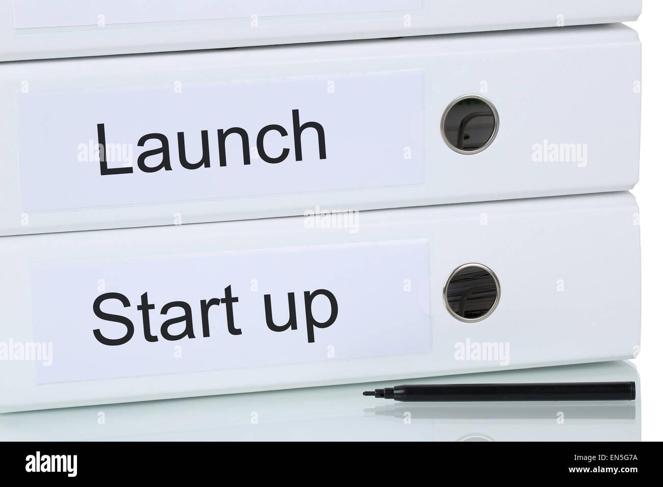 Lancio di una start up business azienda concept per il successo e la crescita Immagini Stock