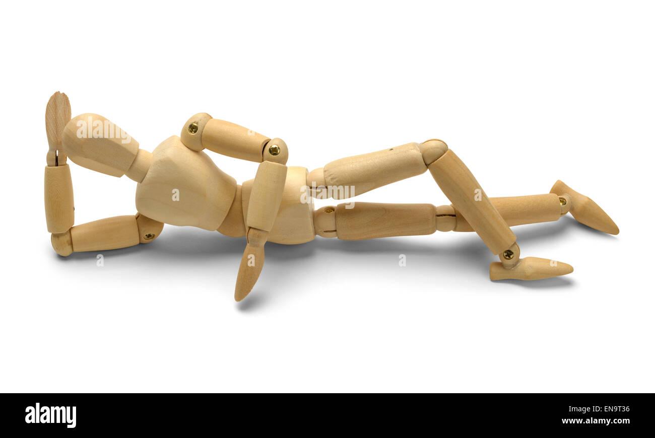 Arte umana Doll manichino isolati su sfondo bianco. Immagini Stock