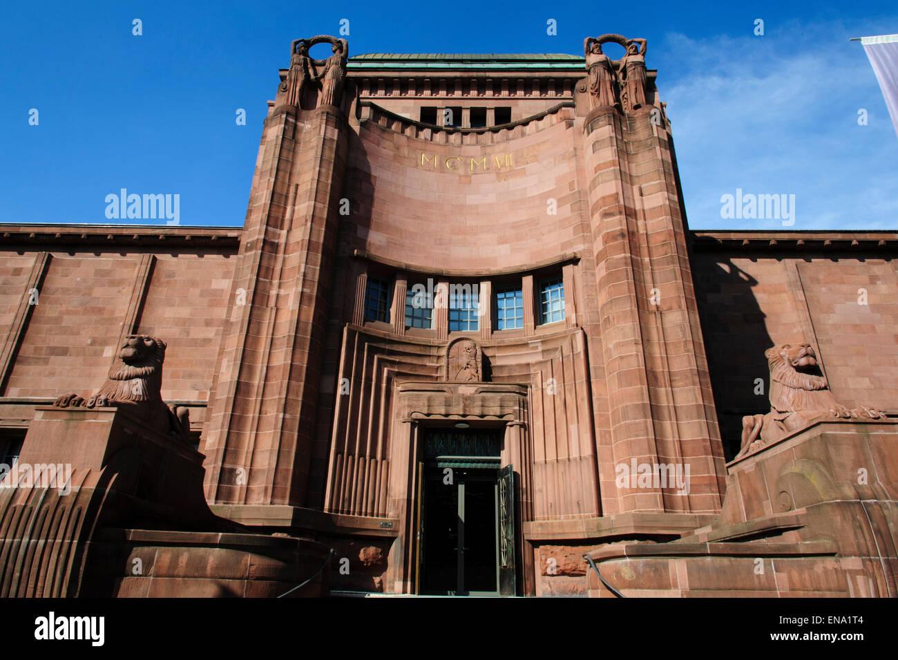 La Kunsthalle di Mannheim, Baden-Württemberg, Deutschland | Sala delle Arti (Kunsthalle) Mannheim, Baden-Württemberg, Immagini Stock