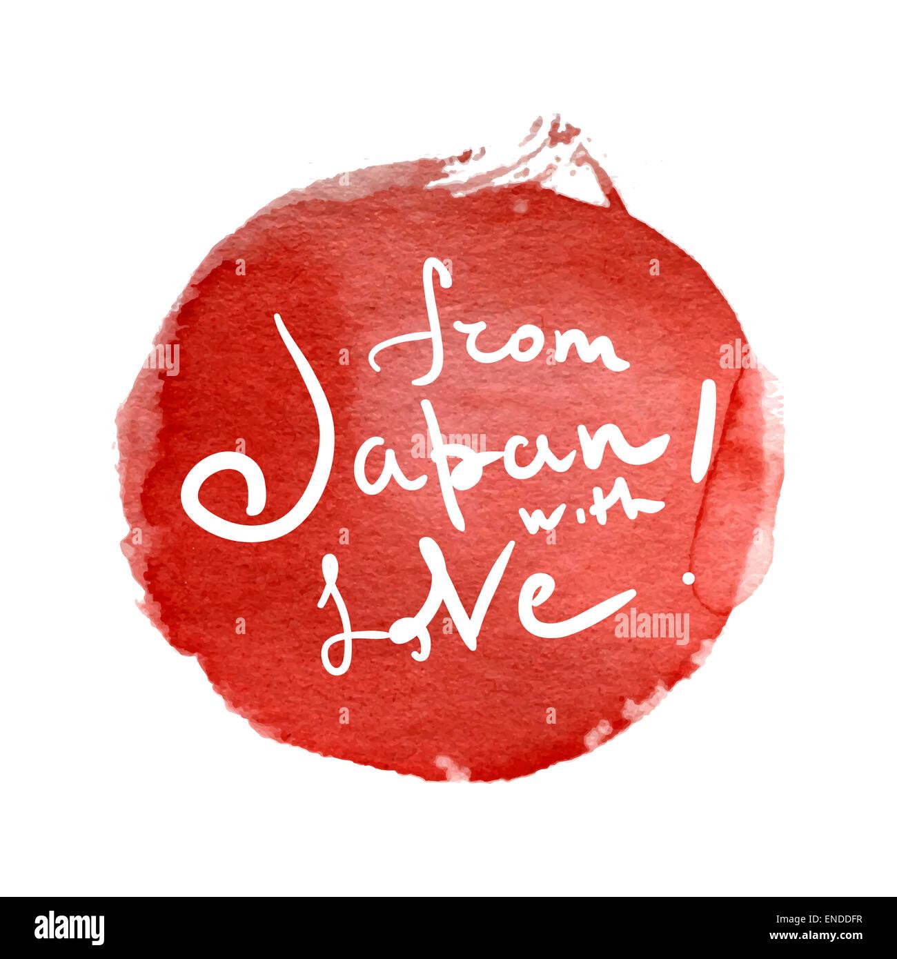 Dal Giappone Con Amore Scritto A Mano Letterig Frase Sull