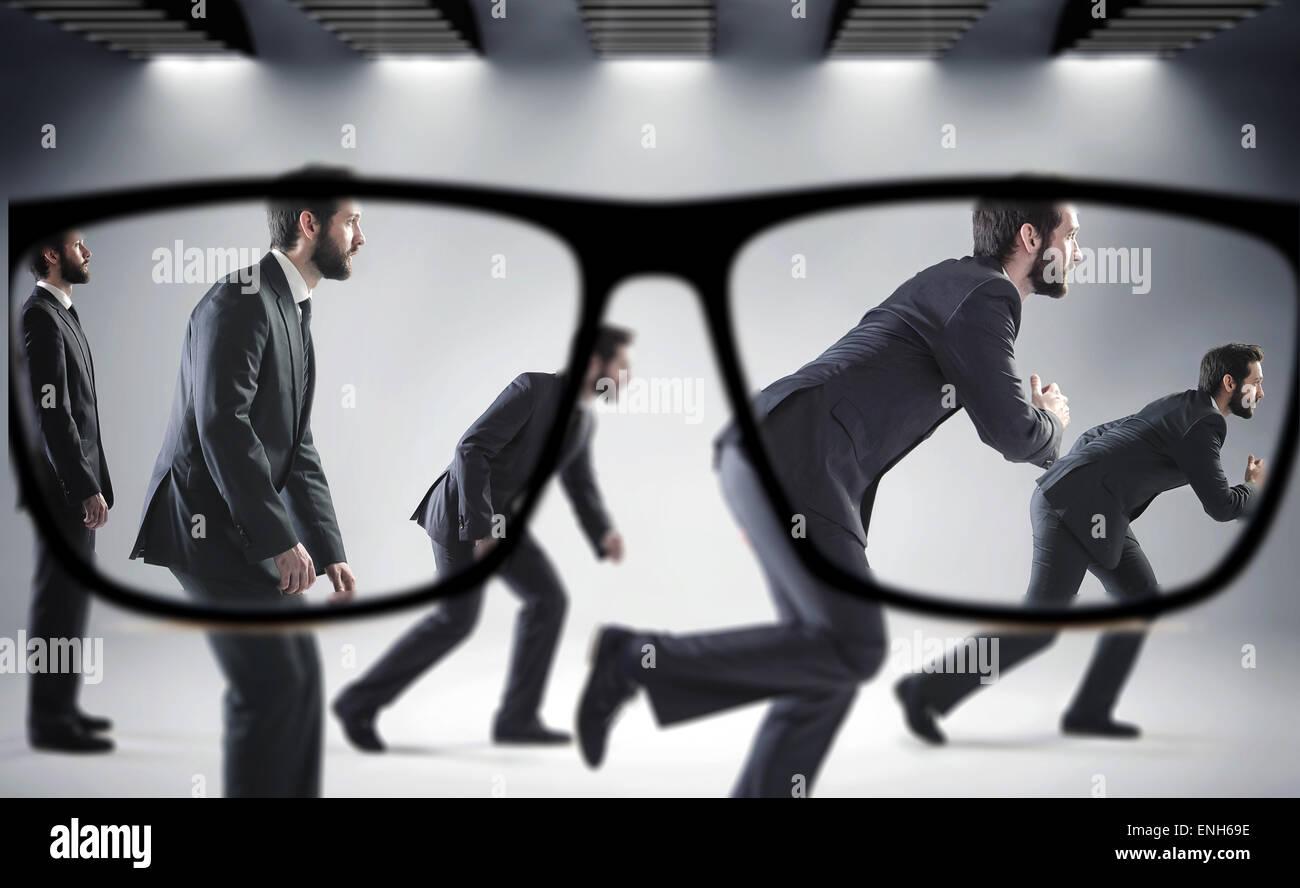 Focus sui numerosi imprenditori bello Immagini Stock