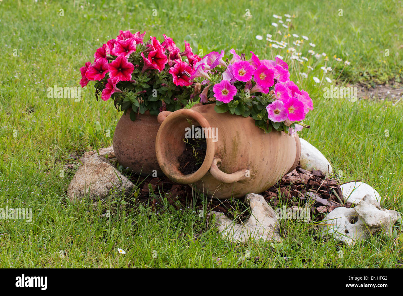 Anfore Con Fiori.Old Amphora Immagini Old Amphora Fotos Stock Alamy