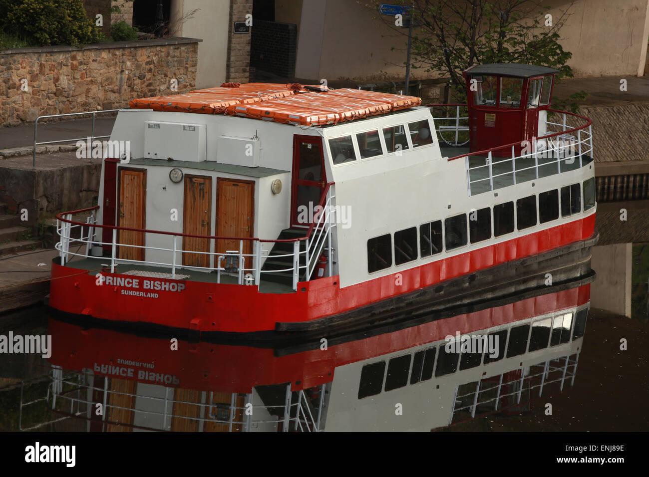Il principe vescovo imbarcazione da diporto sul fiume usura Durham City Centre Immagini Stock