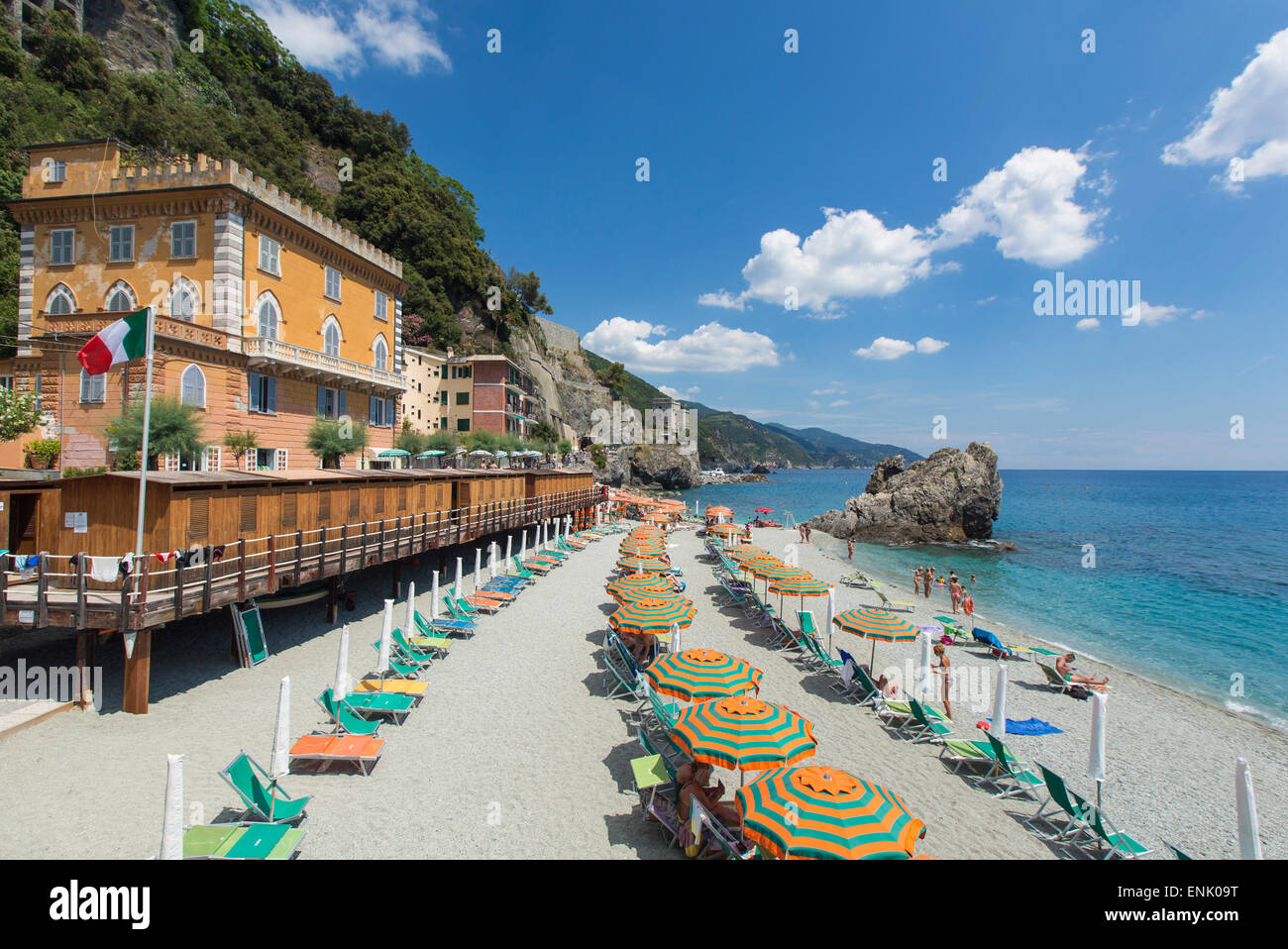 Monterosso al Mare, le Cinque Terre, Sito Patrimonio Mondiale dell'UNESCO, Liguria, Italia, Europa Immagini Stock