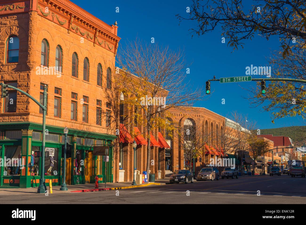 Viale Principale, Durango, Colorado, Stati Uniti d'America, America del Nord Immagini Stock