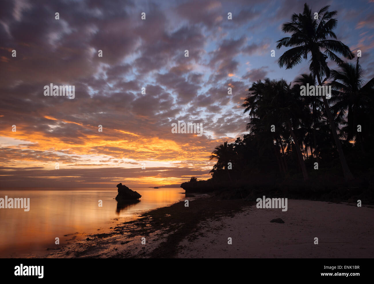 Eun Beach, Isola di Bohol, Visayas, Filippine, Sud-est asiatico, in Asia Foto Stock