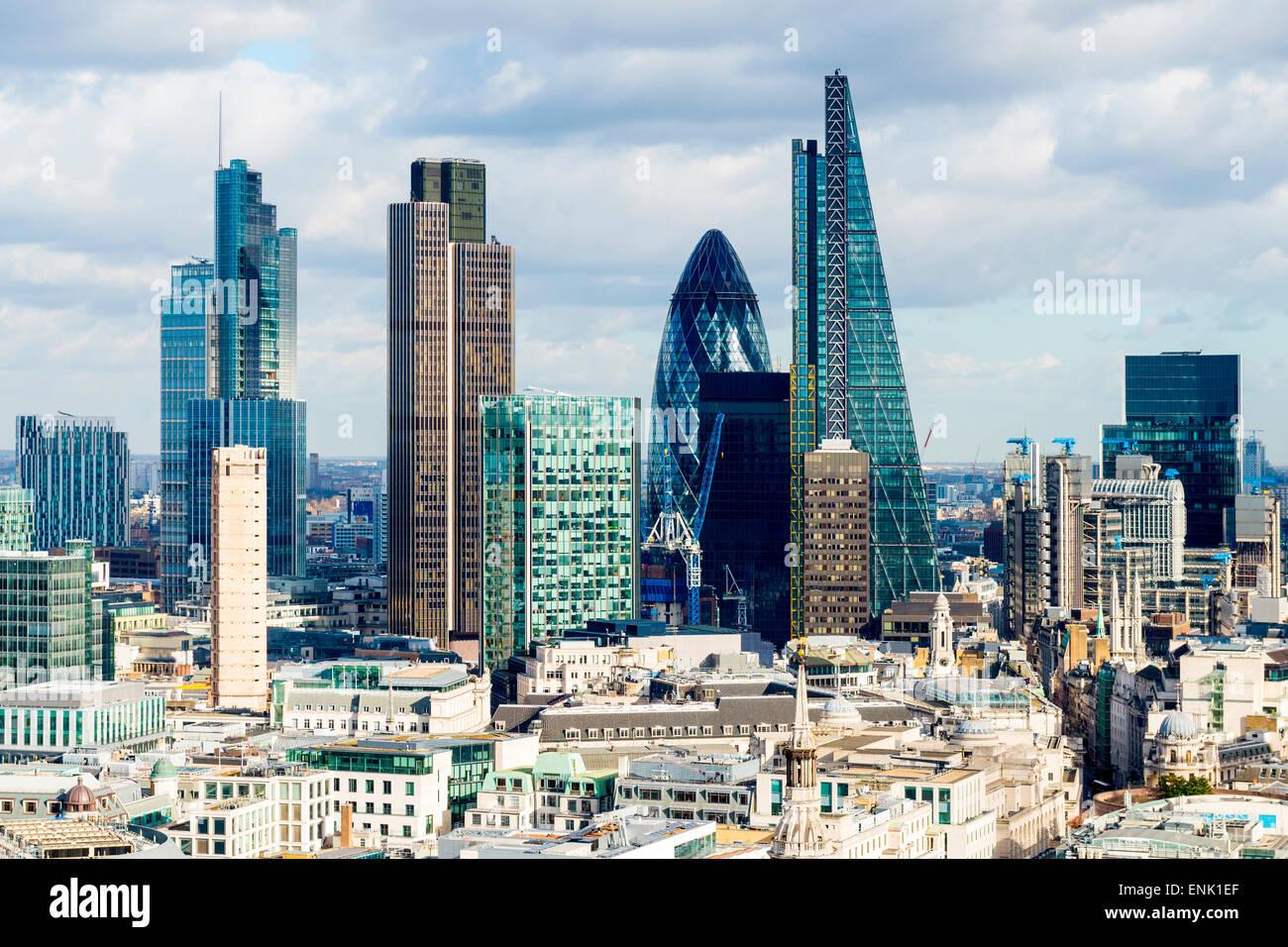 City of London skyline di Londra, Inghilterra, Regno Unito, Europa Immagini Stock