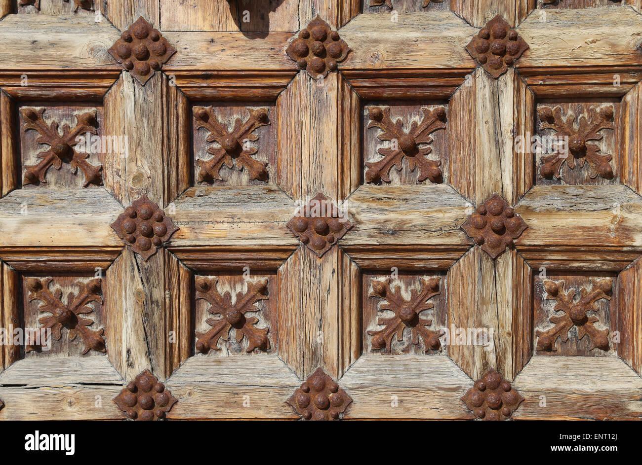 Spagna. La Catalogna. Sitges. Porta. Dettaglio. Foto Stock