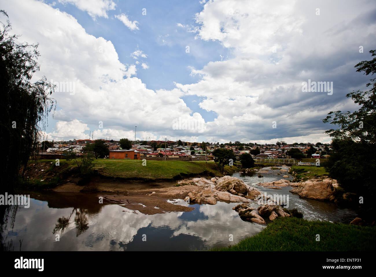 Alexandra township di Johannesburg, Sud Africa: Immagini Stock