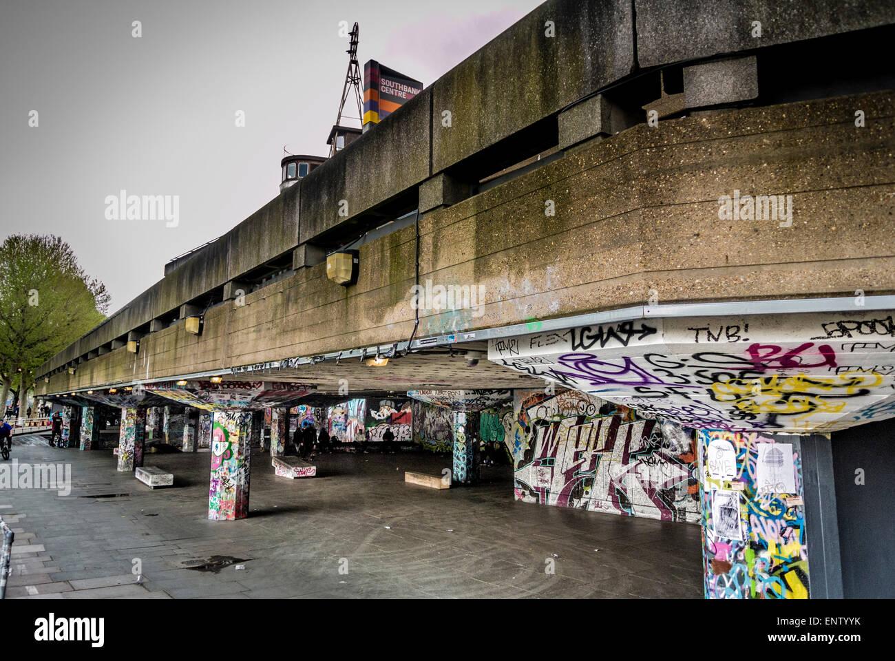 Southbank Skate Park, Southbank Centre di Londra. Immagini Stock