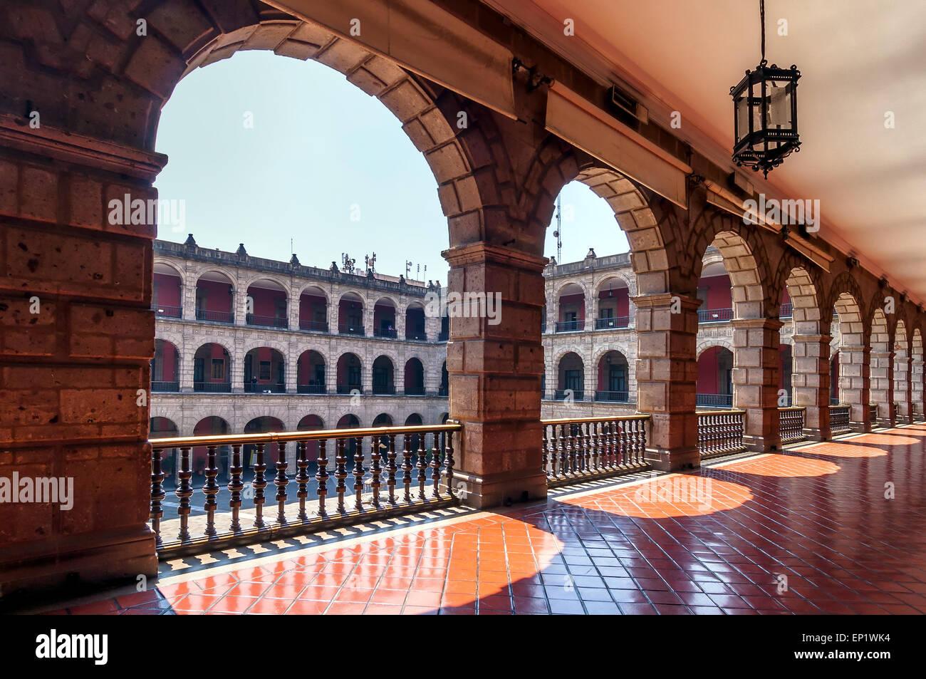 Il palazzo nazionale a Città del Messico Immagini Stock