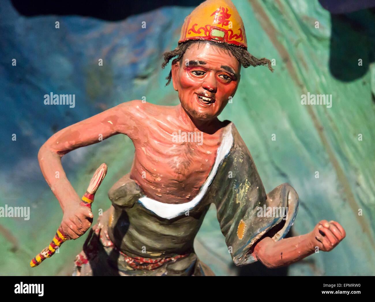 Persona dalla scena di inferno buddista Immagini Stock