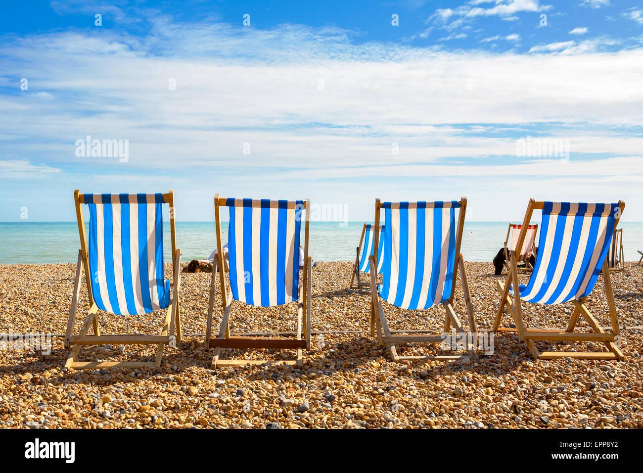 La spiaggia di Brighton. Brighton, Inghilterra Immagini Stock