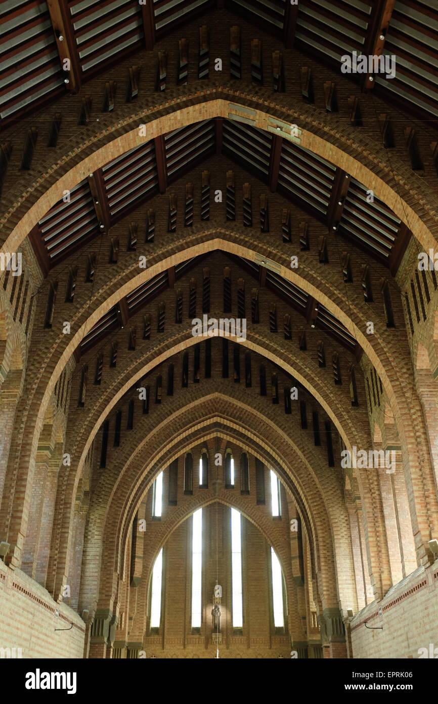 Quarr Abbey, Isola di Wight in Inghilterra. Foto Stock