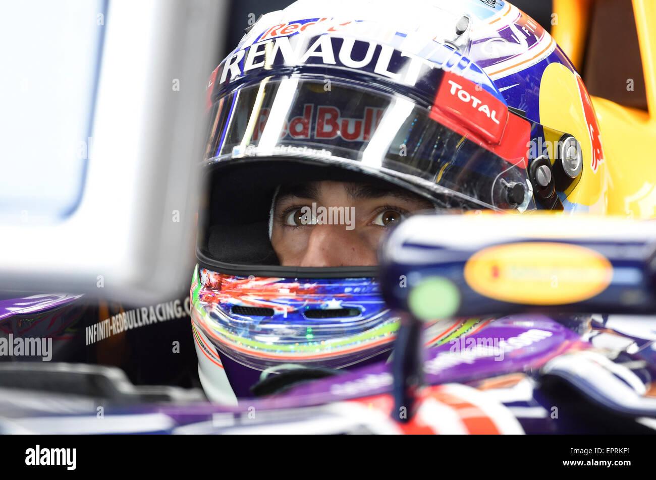 Monte Carlo, Monaco. 21 Maggio, 2015. Daniel Ricciardo, la Red Bull Racing, Formula 1 2015, il Grand Prix di Monaco, Immagini Stock