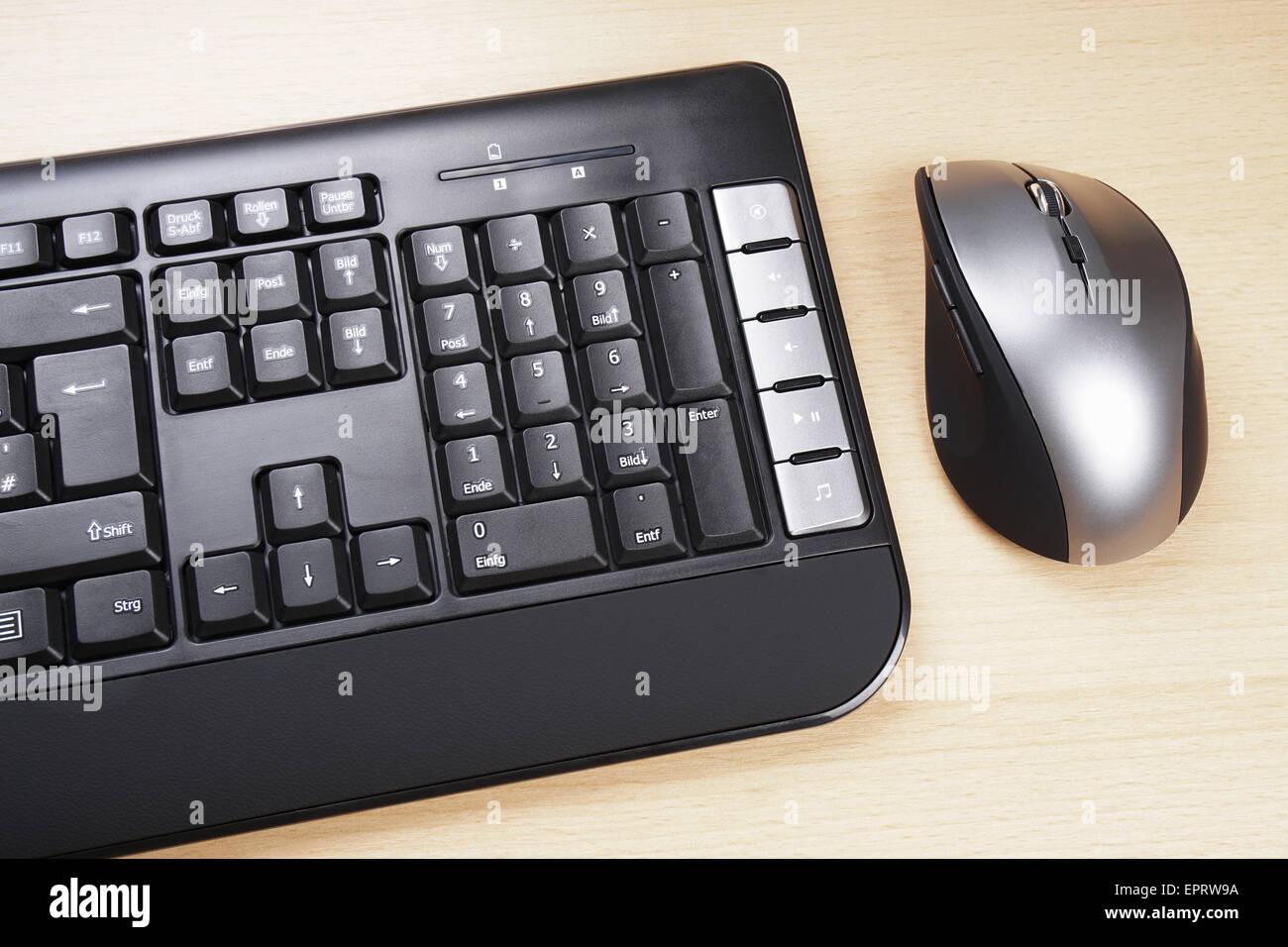 Tastiera e mouse Immagini Stock