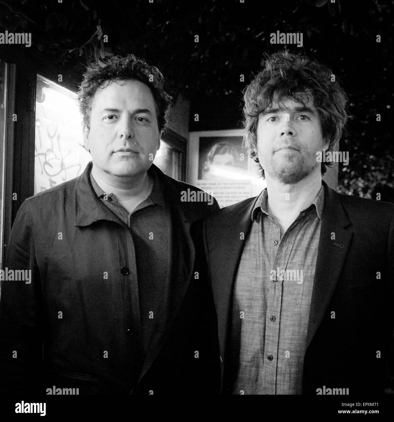 Tom Scharpling e Jon Wurster in Silent Movie Theatre di Los Angeles in California nel marzo 2015. Foto Stock