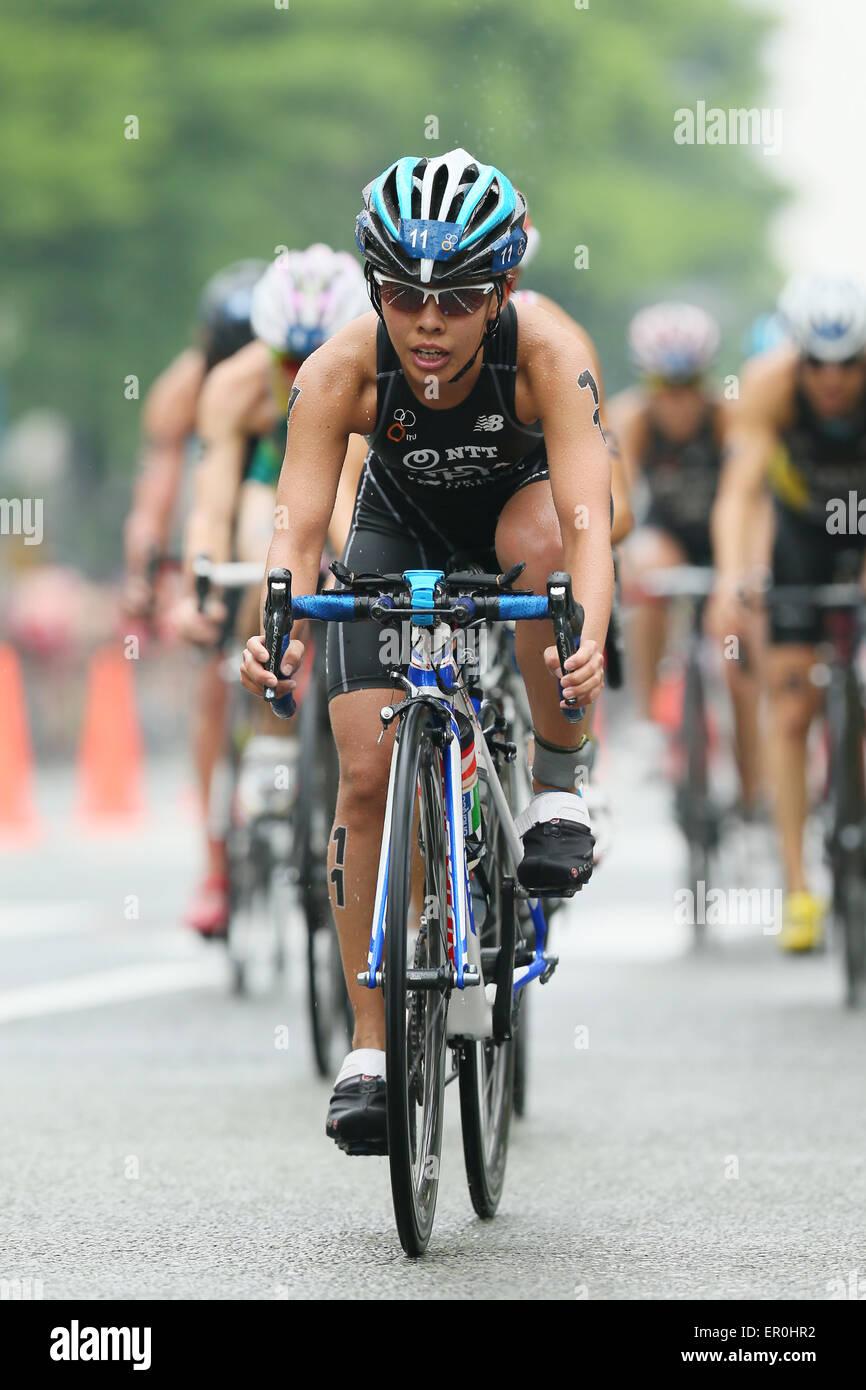 Città di Yokohama, Kanagawa, Giappone. 16 Maggio, 2015. Ai Ueda (JPN) Triathlon : 2015 ITU Triathlon World Immagini Stock
