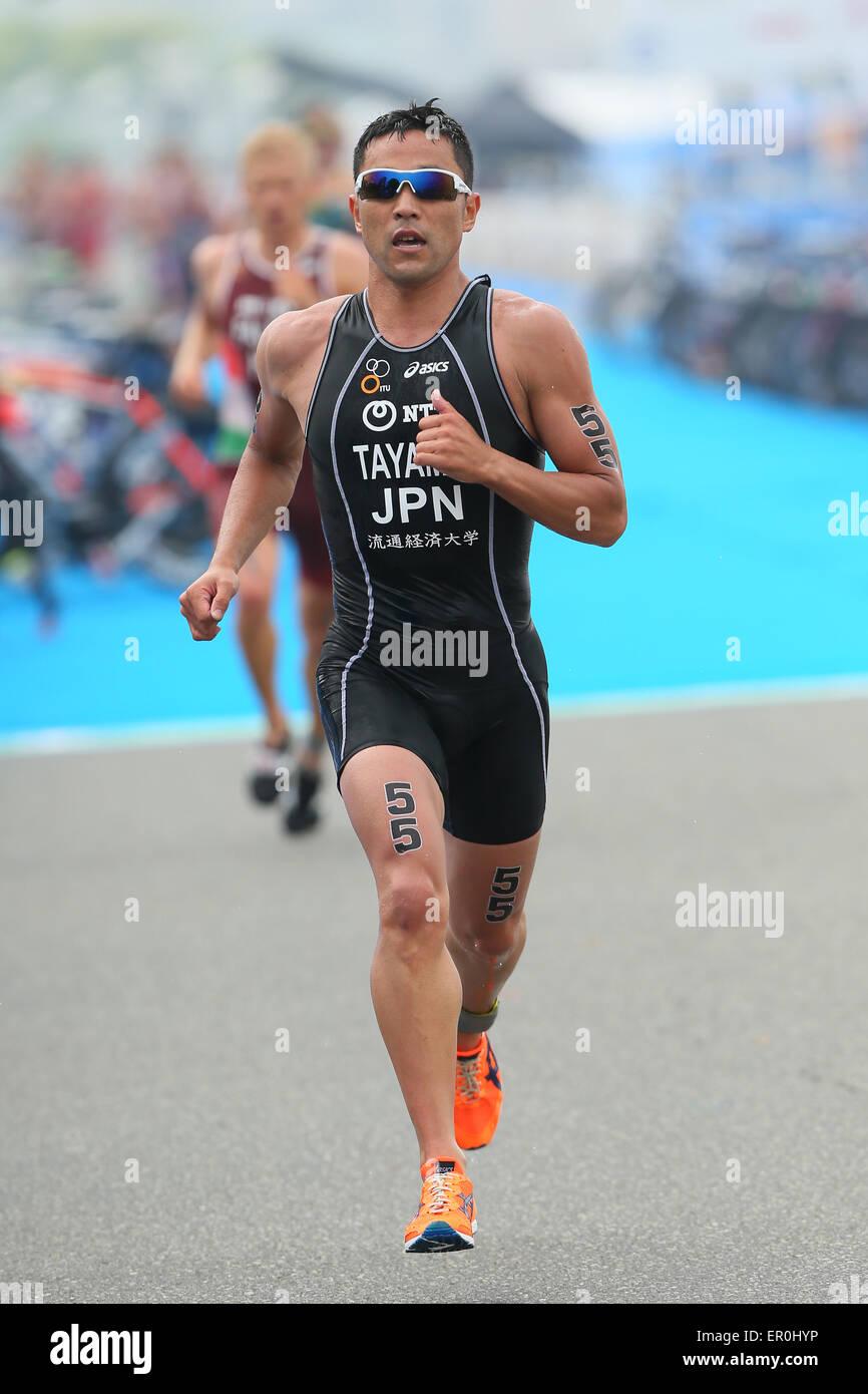 Città di Yokohama, Kanagawa, Giappone. 16 Maggio, 2015. Tayama Hirokatsu (JPN) Triathlon : 2015 ITU Triathlon Immagini Stock