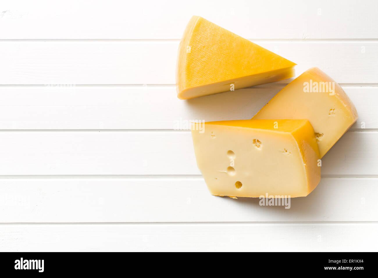Vista superiore del formaggio edam Immagini Stock