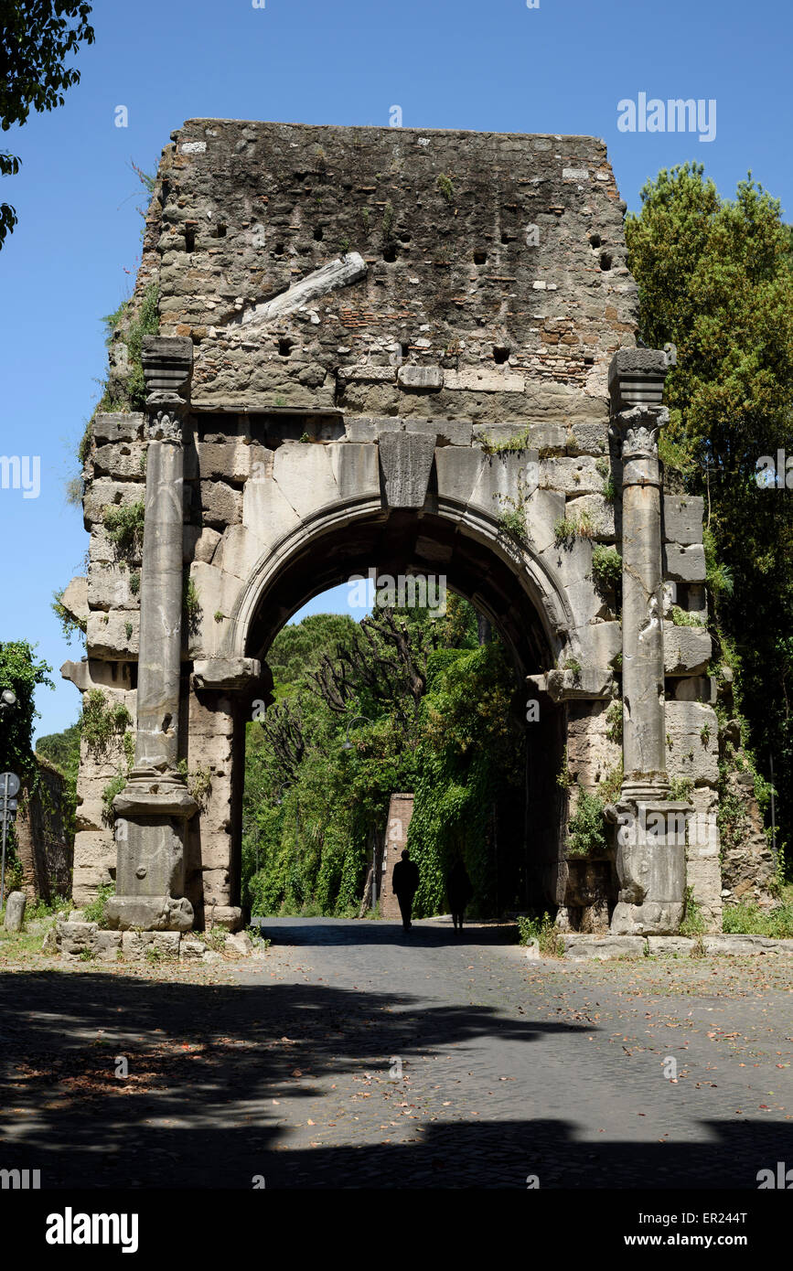 Roma. L'Italia. Arco di Druso. Arco di Druso. Immagini Stock