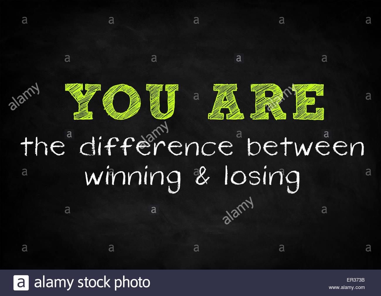 Voi siete la differenza tra vincere e perdere Immagini Stock