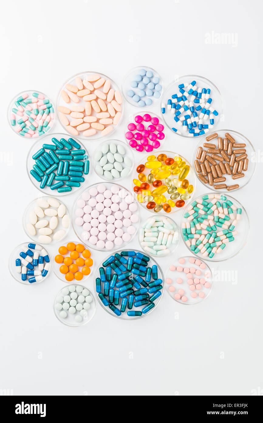La ricerca farmaceutica, immagine concettuale. Immagini Stock