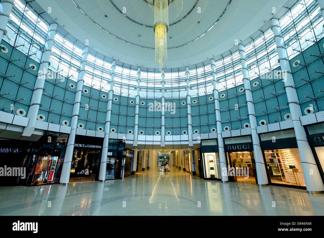 Interno della Moda Mall shopping mall di Manama, Bahrain Immagini Stock