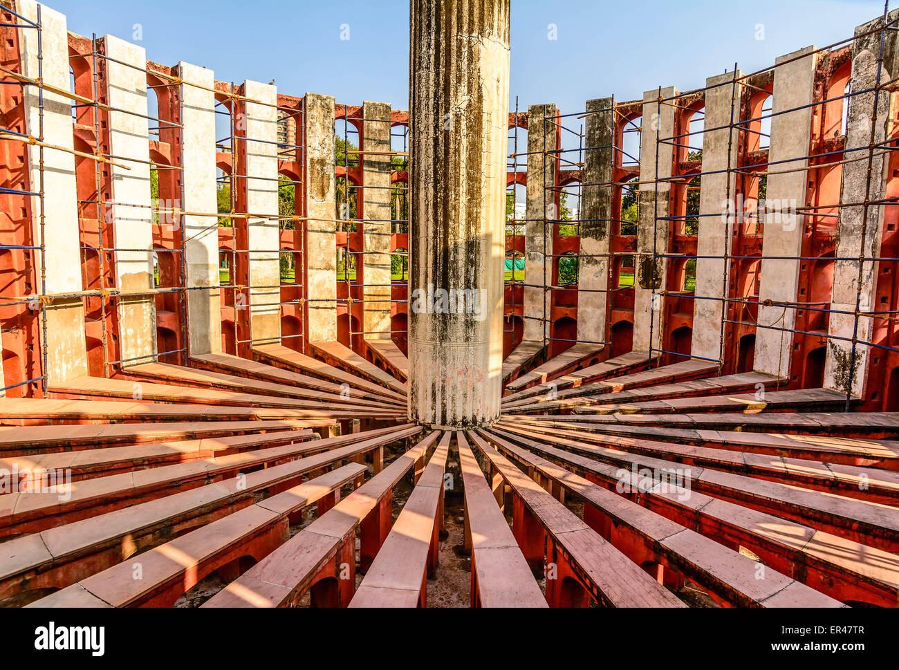 Il Jantar Mantar a New Delhi, India Immagini Stock