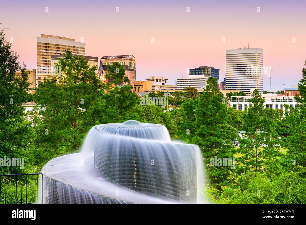 Columbia nella Carolina del Sud, Stati Uniti d'America a Finlay Park Fontana. Immagini Stock